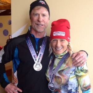 Two Silver medals at the U.S. Winter Triathlon championships in Boise, Utah. Congrats Jim and Tracy Aust!