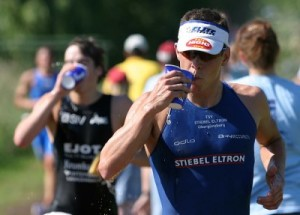 here in this picture I race in the Germany Triathlon Bundesliga representing TSV Oberguenzburg (Allgaeu).