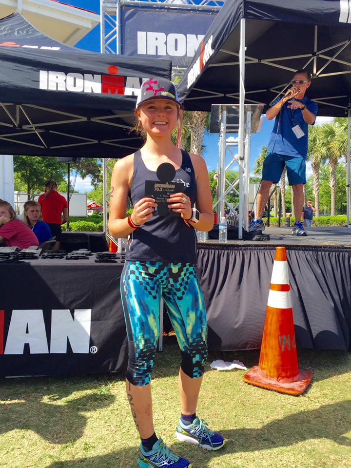 4:56hrs in her first 70.3 distance, placing 1st AG and qualifying for 70.3 World Championships in Australia