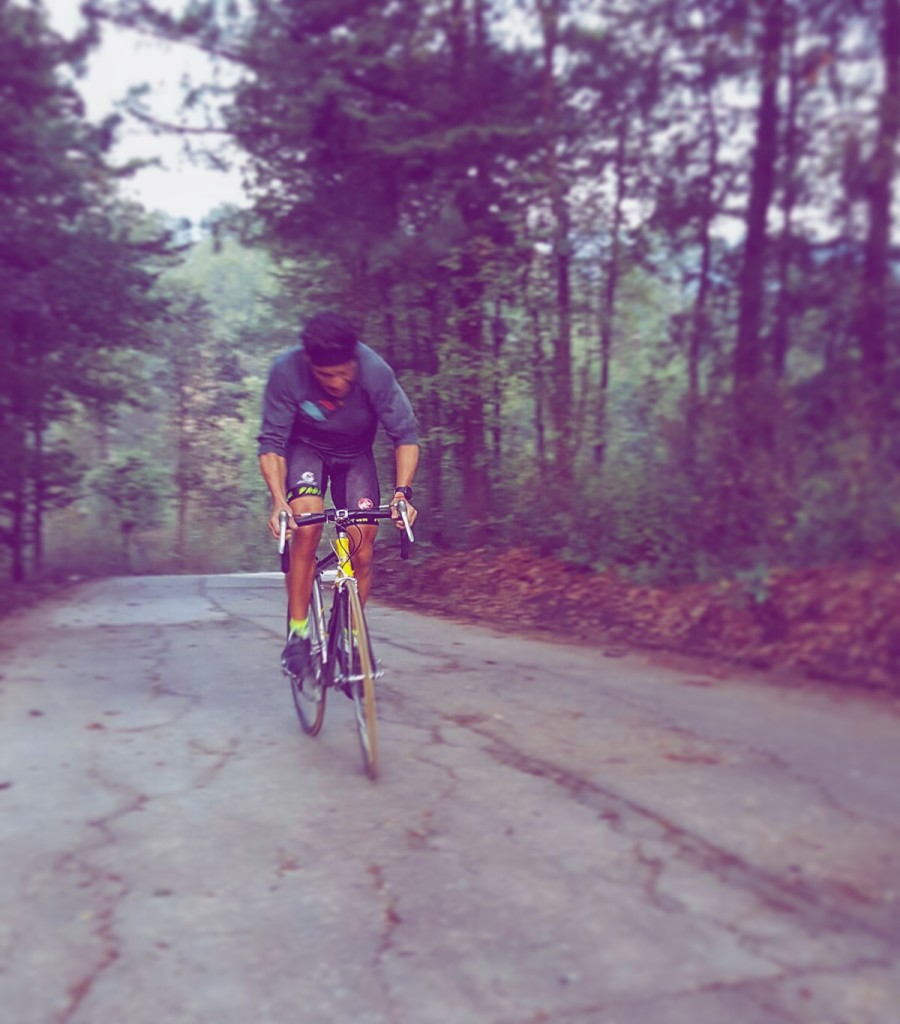 Guatemala Training Campo, April 2016 Cobi Morales performing an intense 30mins Hill Workout [Bike 400m hard uphill 400m easy downhill + Run 100m hard uphill 100m easy downhill]. One focus: Breaking the 9 hours Ironman Barrier at Ironman Texas.