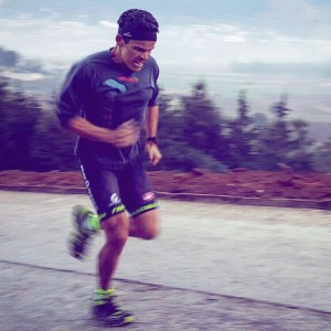Guatemala Training Campo, April 2016 Cobi Morales performing an intense hill repeats as part of an intensive 30mins bike & run workout. Look at his face! Pure determinations.